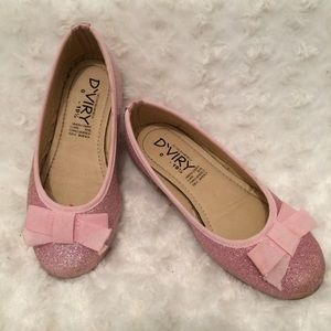 D'VIRY Girl's Sparkly Pink Shoes